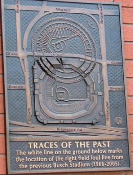 Plaque with diagram of old and new