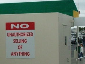 NO Unauthorized selling of anything poster
