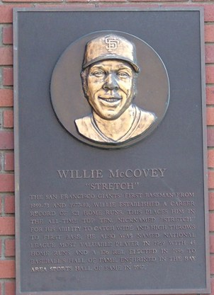 Willie McCovey Plaque