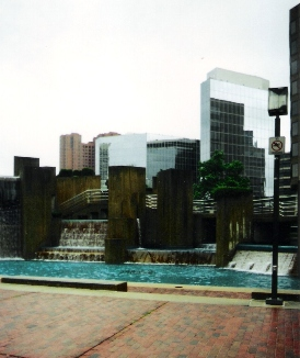 Fountain with Baltimore in Background