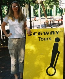 Cindie and Segway Tour Sign